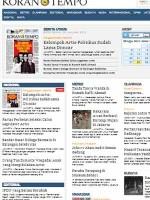 Koran Tempo Indonesia Newspaper
