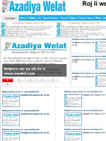 Azadiya Welat Newspaper Turkey
