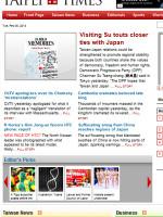 Taipei Times Taiwan Newspaper