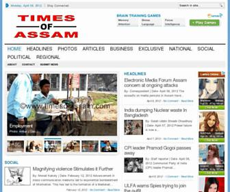Times of Assam epaper - online newspaper English Epapers