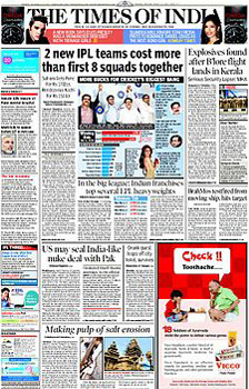 Times of india times ascent ad rate card for hyderabad newspaper.